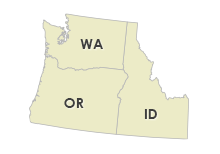Washington, Oregon, Idaho, Montana, Wyoming, California & Nevada